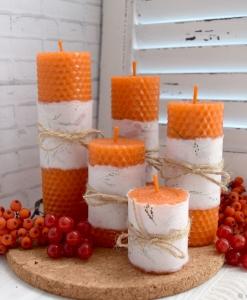 Oranžinės žvakės